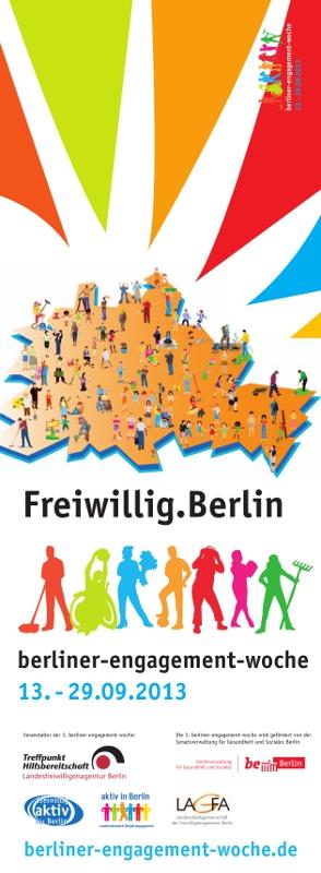 Plakat berliner-engagement-woche 2013 Vorderseite