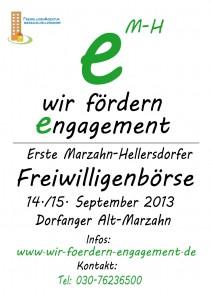 Plakat Freiwilligenbörse Marzahn-Hellersdorf