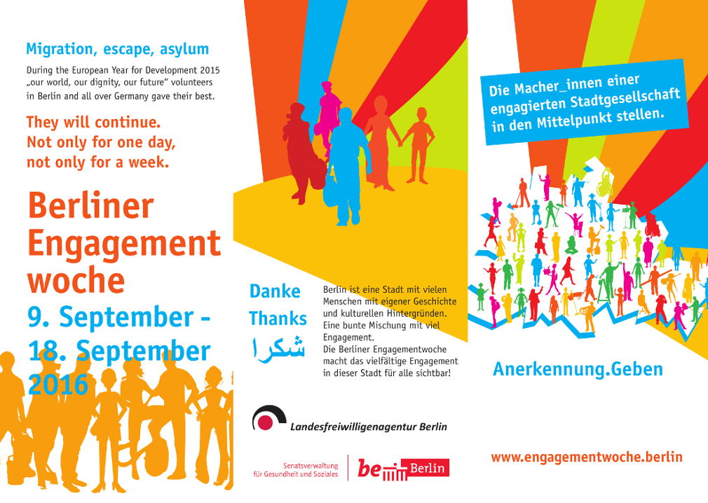 Infokarte Berliner Engagementwohe 2016 - Vorderseite