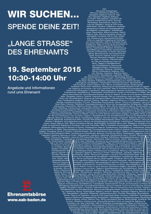 Lange Straße des Ehrenamts 2015